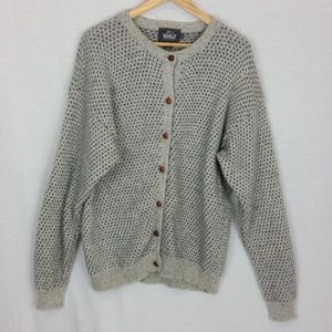 Woolrich Wool Button Front Sweater Cardigan